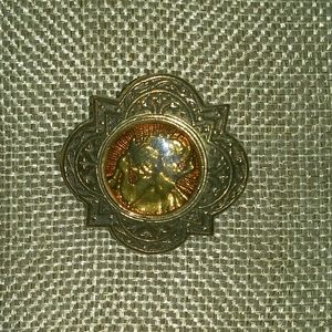 Vatican Library brooch Saint with child